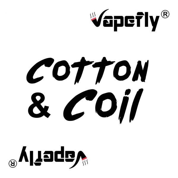 Vapefly Firebolt Cotton + Prebuild Ni80 Fused Clapton Coil 0.35 Ohm