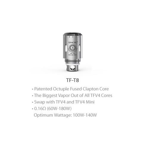 SMOK TFV4 TF-T8 Octuple Fused Clapton Coil