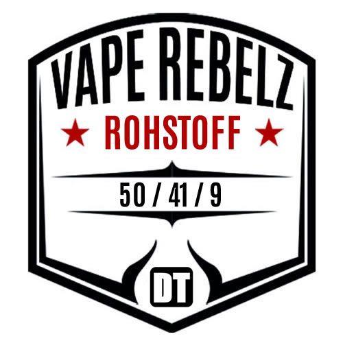 Vape Rebelz® Rohstoff 50:41:9 mit Nikotin Shots | 6mg Set - 200ml