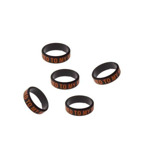 5x Silikon Vape Band - Black Edition