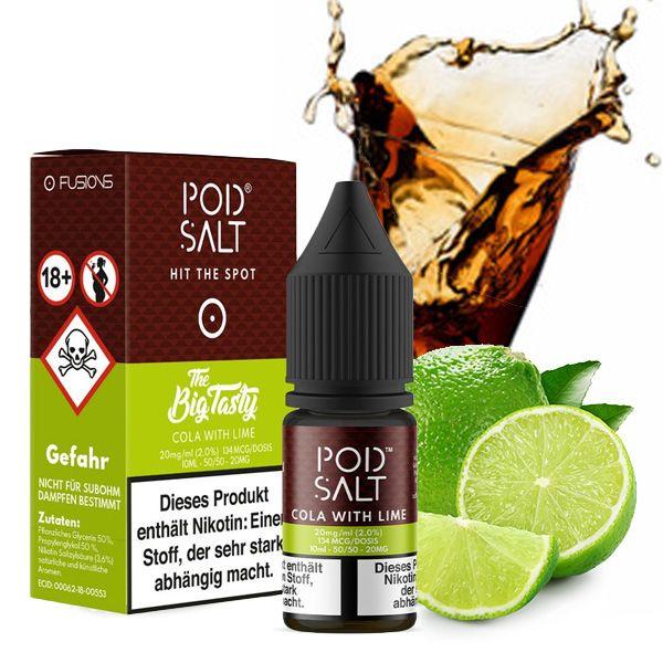 POD SALT FUSION Cola with Lime Nikotinsalz Liquid - 10 ml