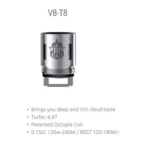 SMOK TFV8 V8-T8 Octuple Coil mit 0.15 Ohm