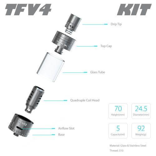 SMOK TFV4 Tank Atomizer Set