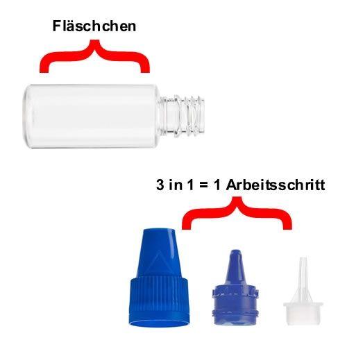 10ml Liquid Fläschchen (Verschluss Weiß)