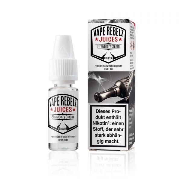 Vape Rebelz® Strawberry Cream Liquid 10ml / 50ml / 100ml