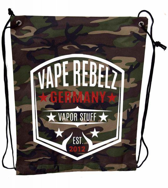 Vape Rebelz Turnbeutel / Tasche Nylon Camouflage