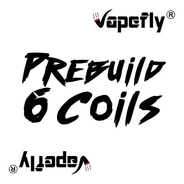 Vapefly Prebuild Ni80 Stagger Fused Clapton Coil 0.3 Ohm