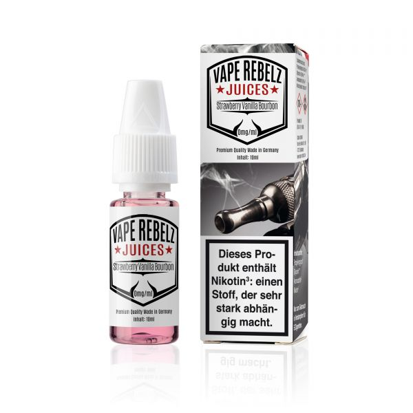 VR | Vape Rebelz® Strawberry Vanilla Bourbon Juice | Liquid - 10ml