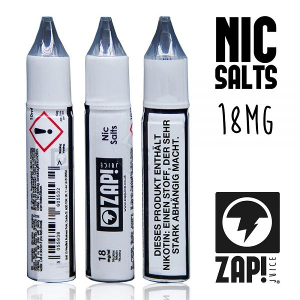 ZAP! Juice - Nic Salt Shot - 18 mg/ml