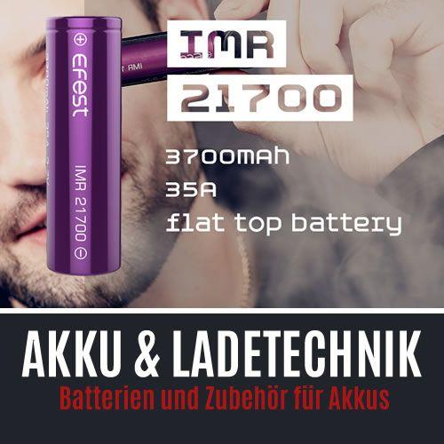 Akkus und Ladegeräte für E-Zigaretten