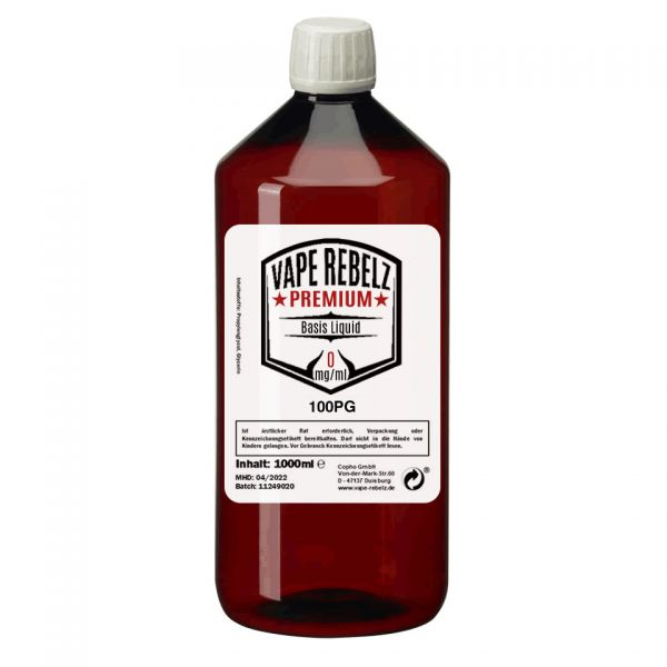 Vape Rebelz® Basis Liquid Propylenglycol (100:0) - 1000ml