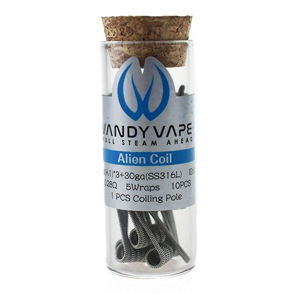 Vandy Vape Prebuilt A1 SS316L Alien Coil 26ga*3/30ga mit 0.28 Ohm