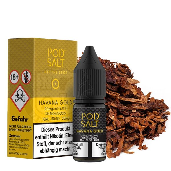 POD SALT Havanna Gold Nikotinsalz Liquid - 10 ml