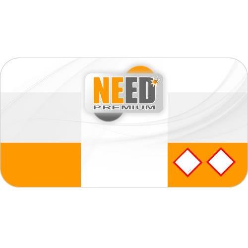 10x selbstklebendes farbiges Etiketten Label - Design NE (57mm x 30mm)