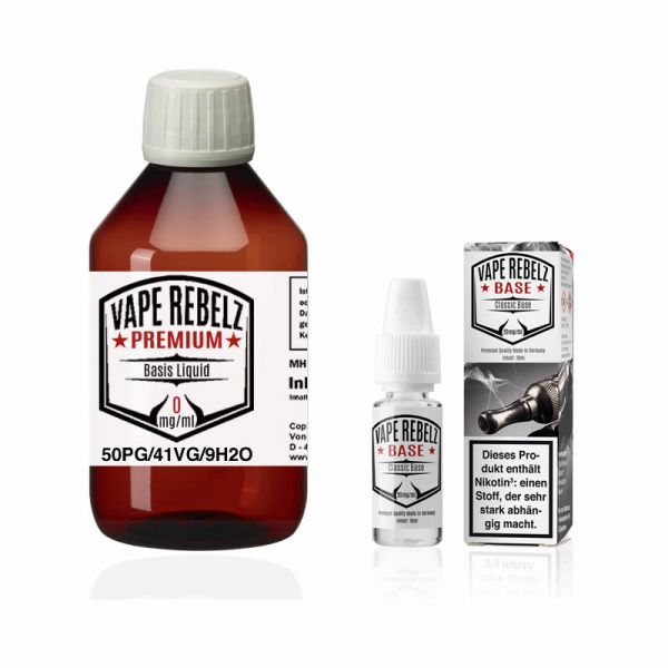 Vape Rebelz® Rohstoff 50:41:9 mit Nikotin Shots | 3mg Set - 500ml
