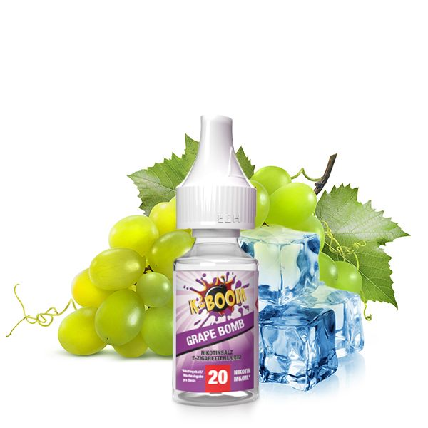 K-BOOM Grape Bomb Nikotinsalz Liquid 10 ml 20mg